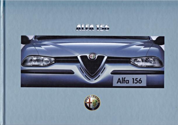 brochure autofolder alfa romeo 156 berlina 06 1997. Black Bedroom Furniture Sets. Home Design Ideas